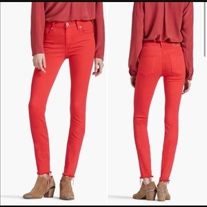 Lucky Brand Bridgette Skinny Ankle Jeans Red 28